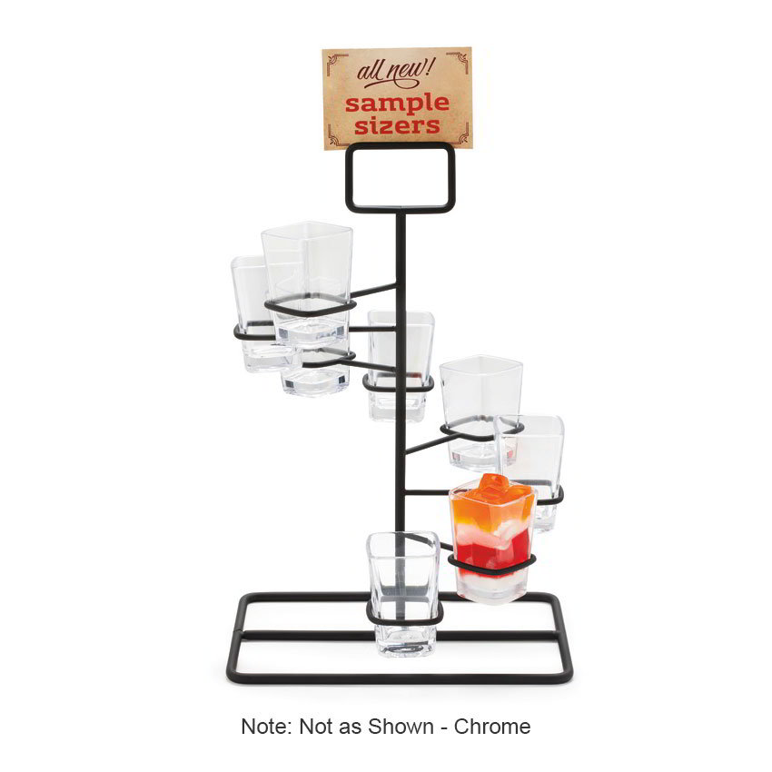 "GET MTS-1496-CH Dessert Shot Display Stand - 14.25"" x 8.5"", Metal, Chrome"