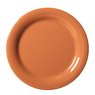 "GET NP-10-PK 10.5"" Round Dinner Plate, Melamine, Orange"