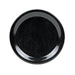 """GET NP-6-BK 6.5"""" Round Plate w/ Narrow Rim, Melamine, Textured Black"""