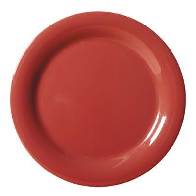 """GET NP-6-CR 6.5"""" Melamine Plate w/ Narrow Rim, Cranberry"""