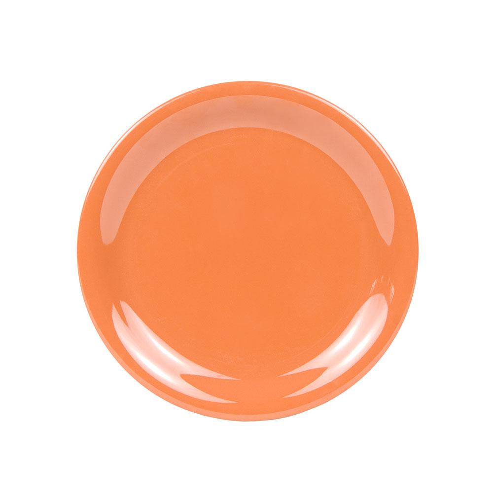 "GET NP-6-PK 6.5"" Melamine Plate w/ Narrow Rim, Pumpkin"