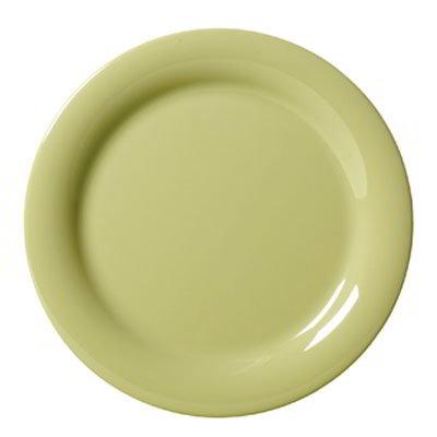 "GET NP-7-AV 7.25"" Melamine Plate w/ Narrow Rim, Avocado"