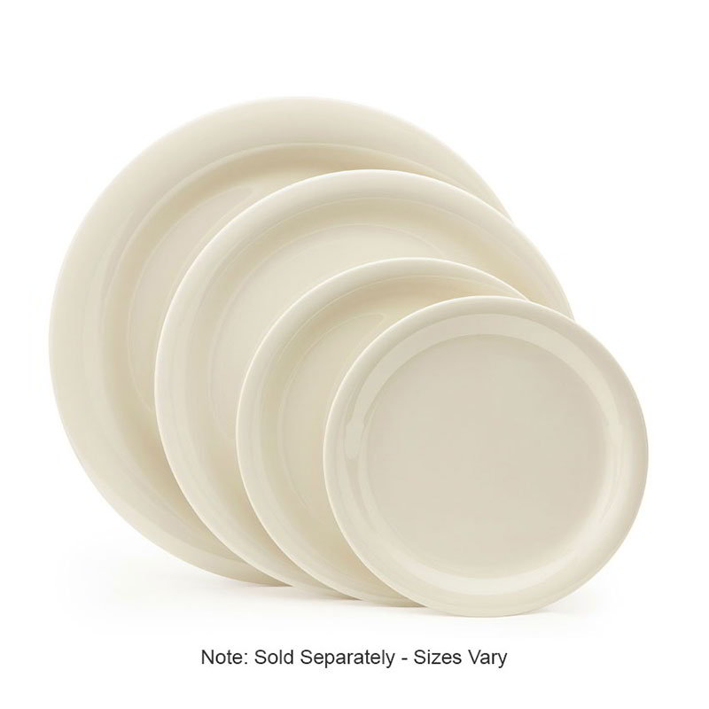 "GET NP-7-DI 7-1/4""Plate, Melamine, Ivory"