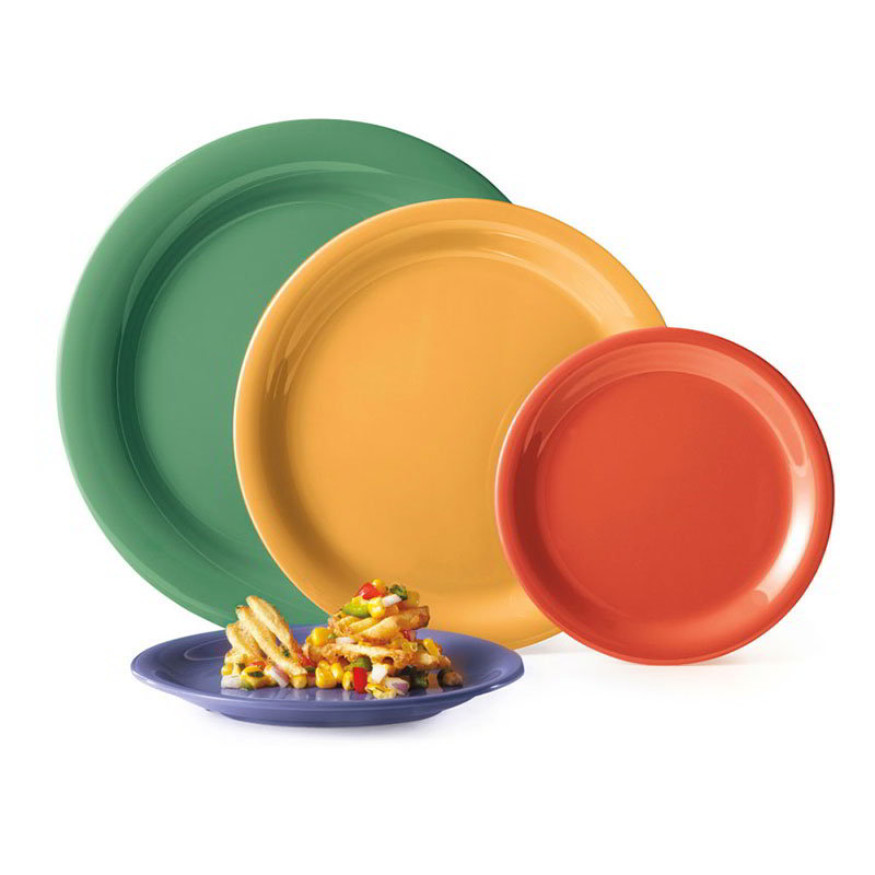 "GET NP-7-MIX (4) 7.25"" Round Salad Plate, Melamine, Multi-Colored"