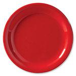 """GET NP-7-RSP 7.25"""" Red Sensation Plate w/ Narrow Rim, Melamine"""