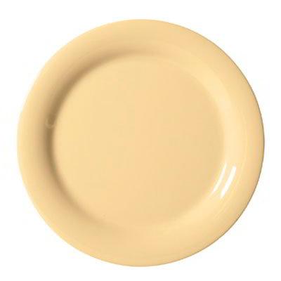 "GET NP-7-SQ 7.25"" Round Salad Plate, Melamine, Squash"