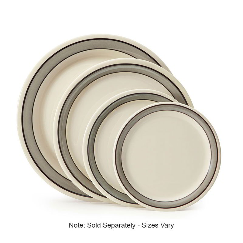 "GET NP-9-CA 9"" Round Dinner Plate, Melamine, White"