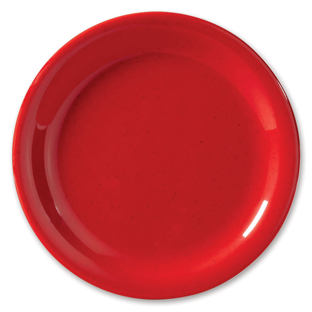 "GET NP-9-RSP 9"" Red Sensation Plate w/ Narrow Rim, Melamine"