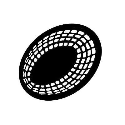 "GET OB-938-BK 9-3/8""x 6""Oval Bread & Bun Basket, Plastic, Black"
