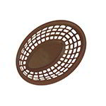 "GET OB-938-BR Oval Bread & Bun Basket, 9-3/8 x 6 x 1-7/8"", Brown Polypropylene"
