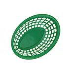 "GET OB-938-G 9-3/8""x 6""Oval Bread & Bun Basket, Plastic, Green"