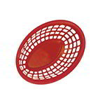 "GET OB-938-R 9-3/8""x 6""Oval Bread & Bun Basket, Plastic, Red"