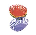 "GET OB-940-RO 10""x 8-1/2""Oval Bread & Bun Basket, Plastic, Rio Orange"