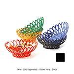 "GET OB-940-BK 10""x 8-1/2""Oval Bread & Bun Basket, Plastic, Black"