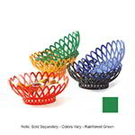 "GET OB-940-FG 10""x 8-1/2""Oval Bread & Bun Basket, Plastic, Rainforest Green"