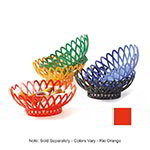 "GET OB-940-RO 10""x 8-1/2""Oval Bread & Bun Basket, Plastic, Rio Orange"