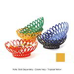 "GET OB-940-TY 10""x 8-1/2""Oval Bread & Bun Basket, Plastic, Tropical Yellow"