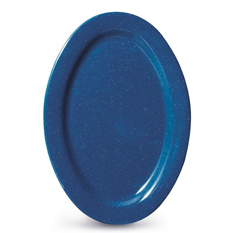 """GET OP-115-TB 11-1/2""""x 8""""Platter, Melamine, Texas Blue"""