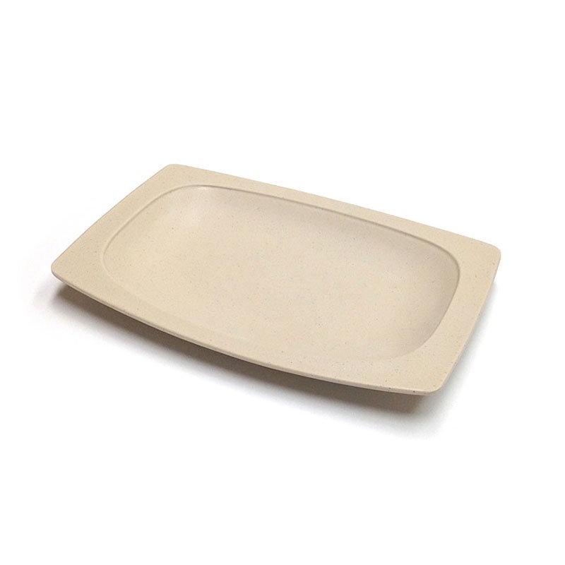 """GET OP-118-MS 12.25X8"""" Oval Platter - Melamine, Matte Sandstone"""