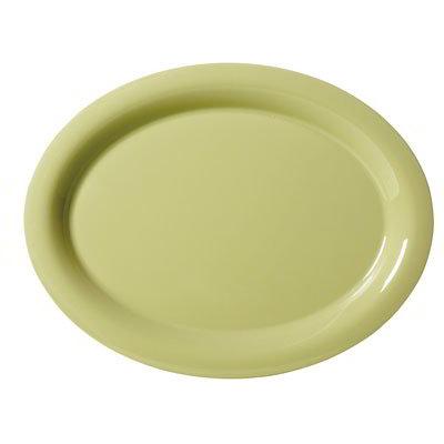 "GET OP-120-AV Oval Melamine Platter, 12 x 9"", Avocado"