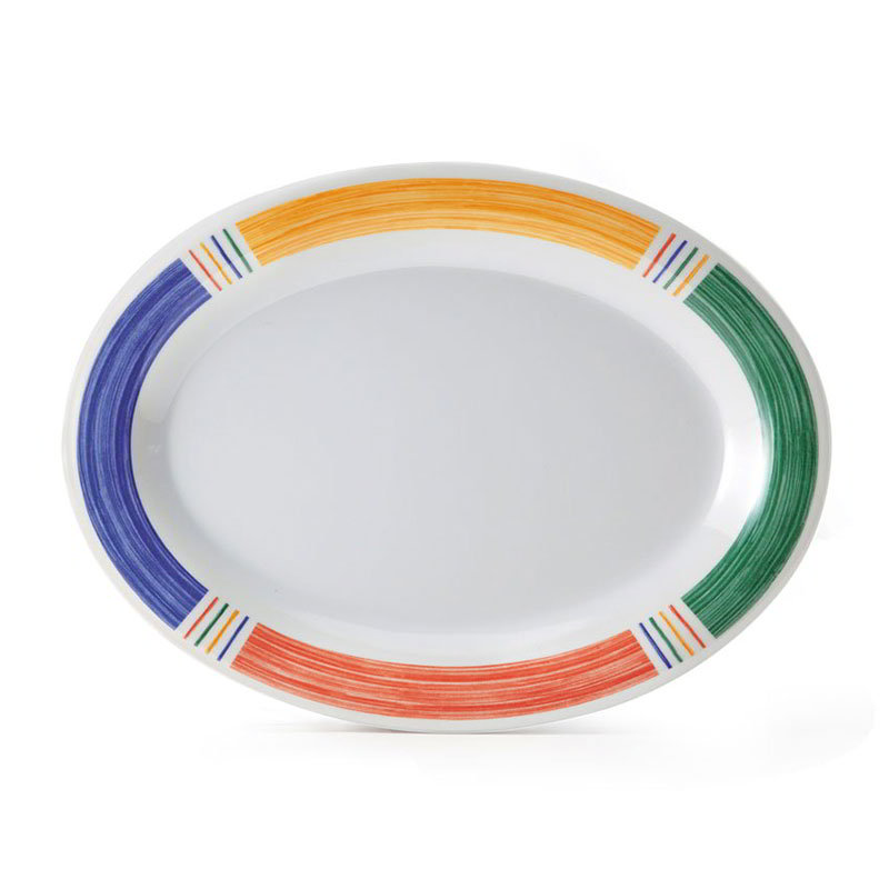 "Get OP-120-BA 12""x 9""Oval Platter, Melamine, Barcelona"