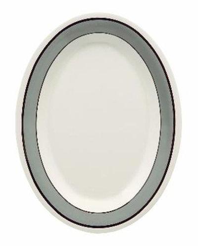 """GET OP-120-CA 12""""x 9""""Oval Platter, Melamine, Cambridge"""