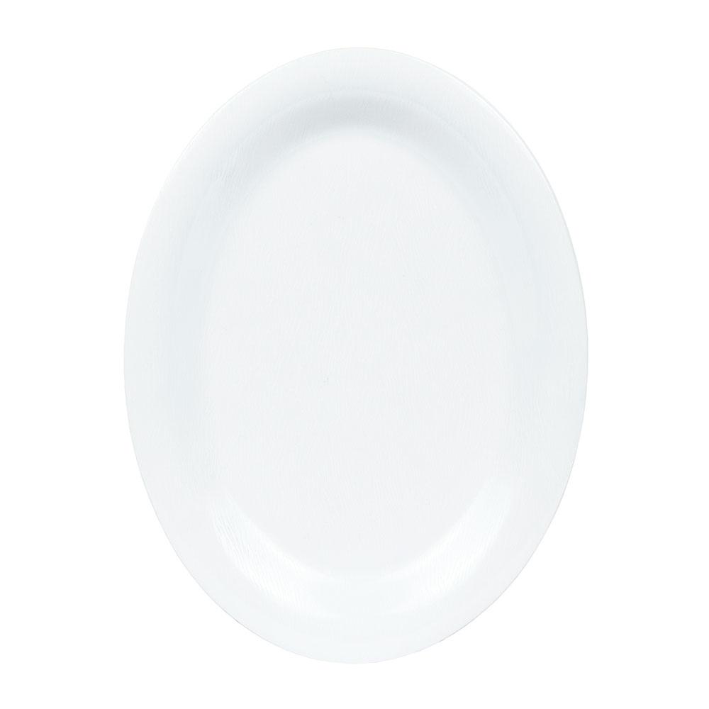 """GET OP-120-EW-W Oval Serving Platter, 12"""" x 9"""", Melamine, White"""