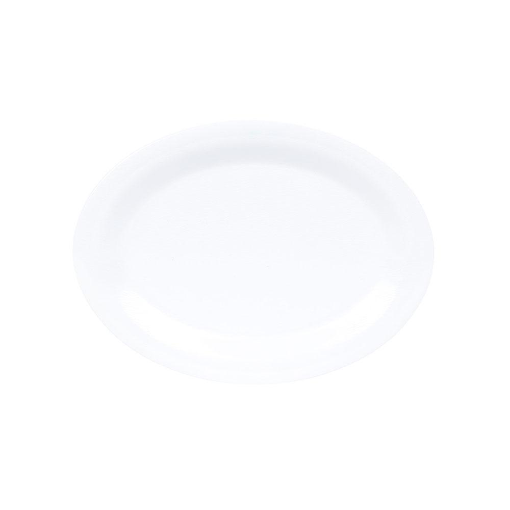 """GET OP-120-EW-W Oval Platter - Melamine, 12x9"""", Textured White"""