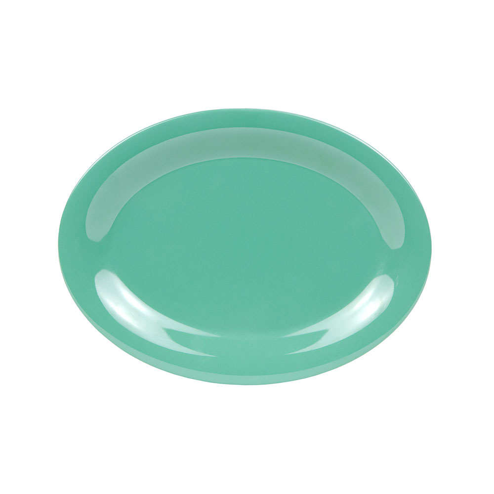 "GET OP-120-FG 12""x 9""Oval Platter, Melamine, Rainforest Green"