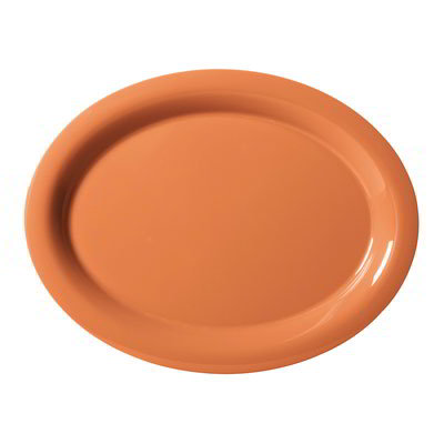 """GET OP-120-PK Oval Melamine Platter, 12 x 9"""", Pumpkin"""