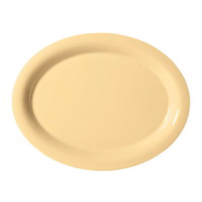 "GET OP-120-SQ Oval Melamine Platter, 12 x 9"", Squash"