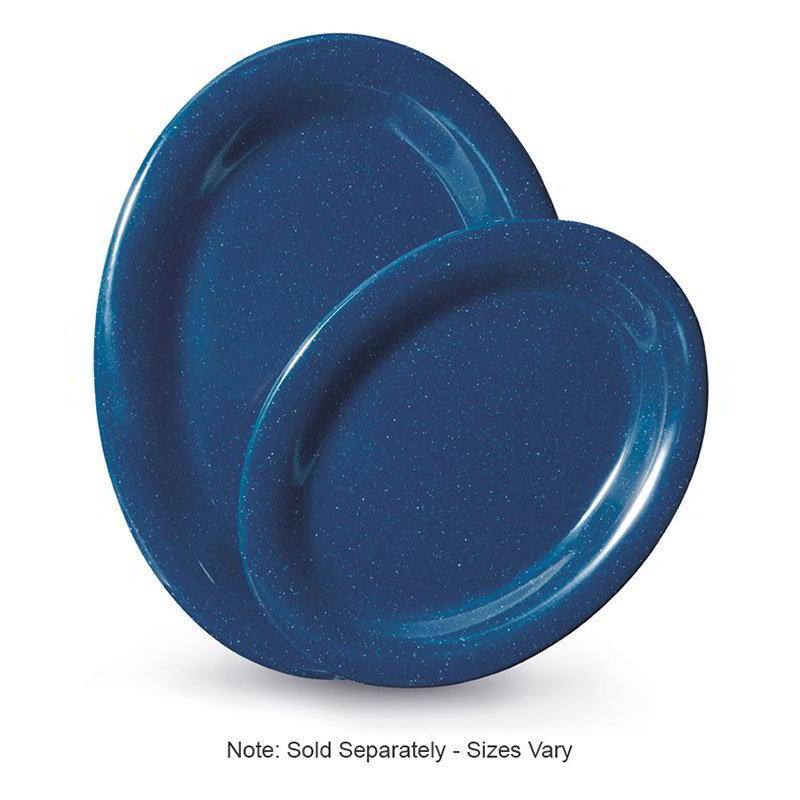 """GET OP-120-TB 12""""x 9""""Oval Platter, Melamine, Texas Blue"""