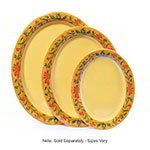 "GET OP-120-VN Oval Platter, 12 x 9"", Melamine, Venetian"