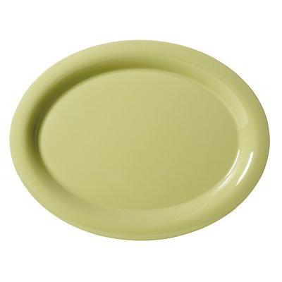 "GET OP-135-AV Oval Melamine Platter, 13.5 x 10.25"", Avocado"