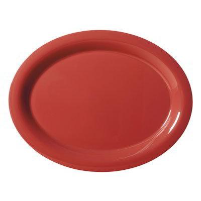"GET OP-135-CR Oval Melamine Platter, 13.5 x 10.25"", Cranberry"
