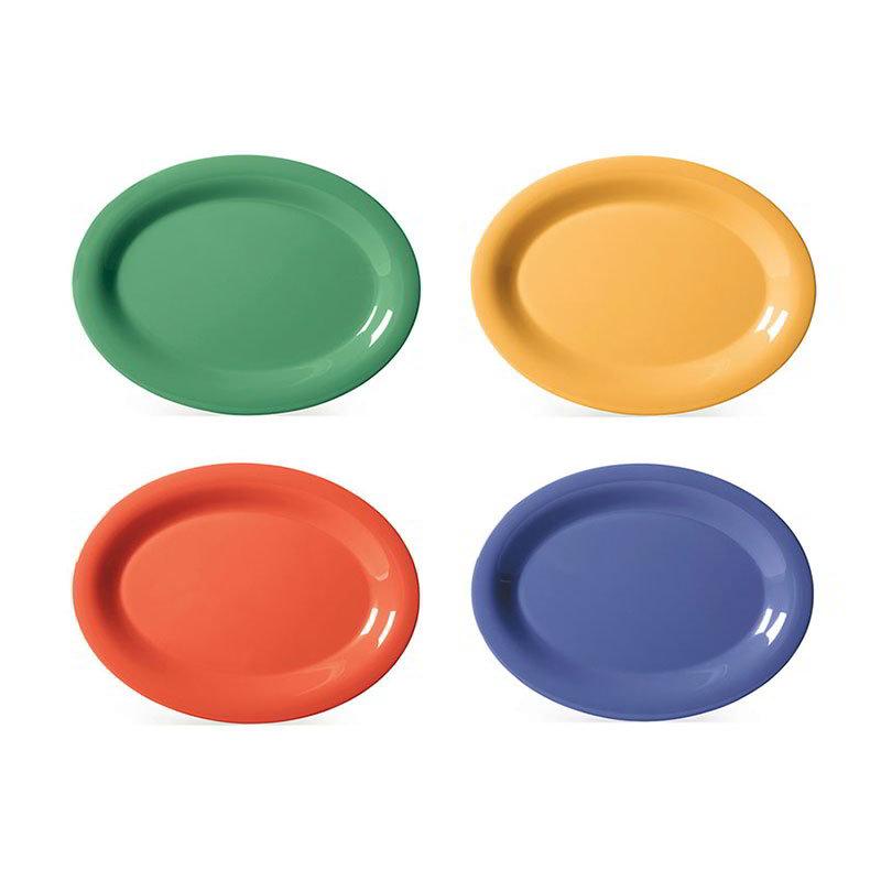 """GET OP-135-MIX 13-1/2""""x 10-1/2""""Oval Platter, Melamine, Mardi Gras Mix"""