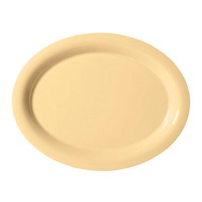 "GET OP-135-SQ Oval Melamine Platter, 13.5 x 10.25"", Squash"