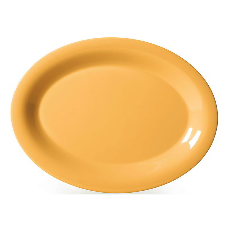 "GET OP-135-TY 13-1/2""x 10-1/2""Oval Platter, Melamine, Tropical Yellow"