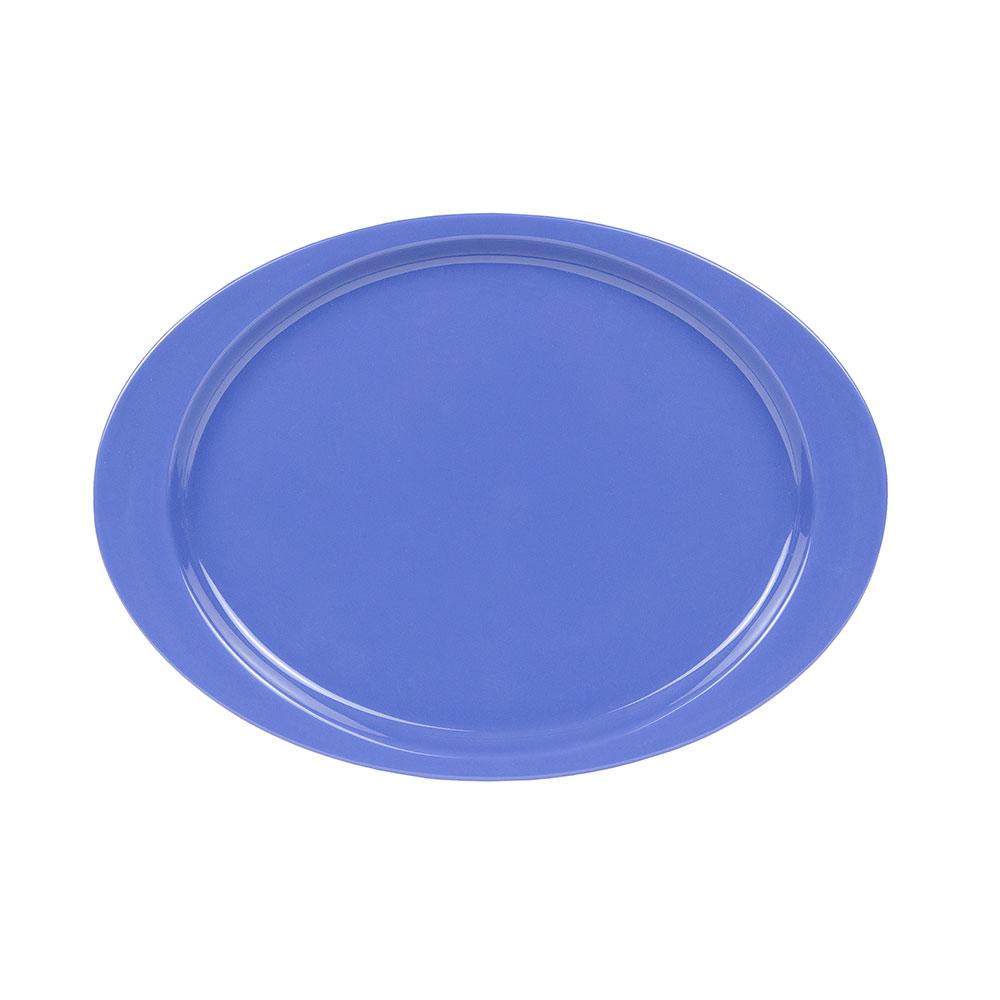 "GET OP-145-PB 14-5/8""Oval Platter, Melamine, Peacock Blue"
