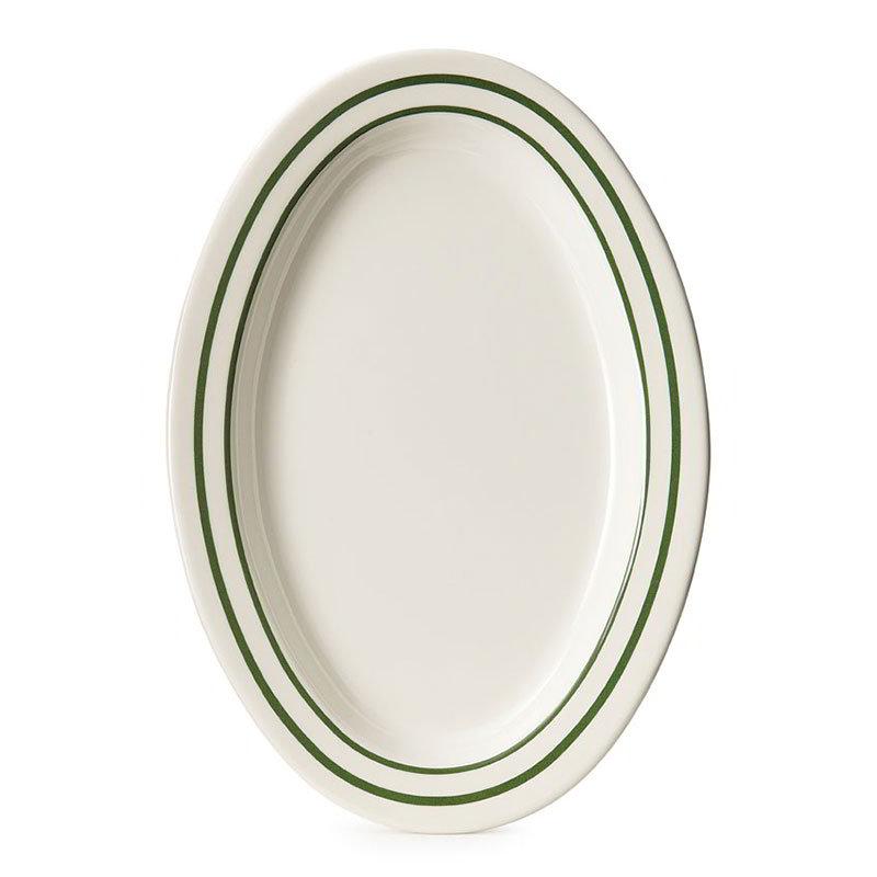 """GET OP-215-EM 11-1/2""""Oval Platter, 3/4""""Deep, Melamine, Centennial Emerald"""