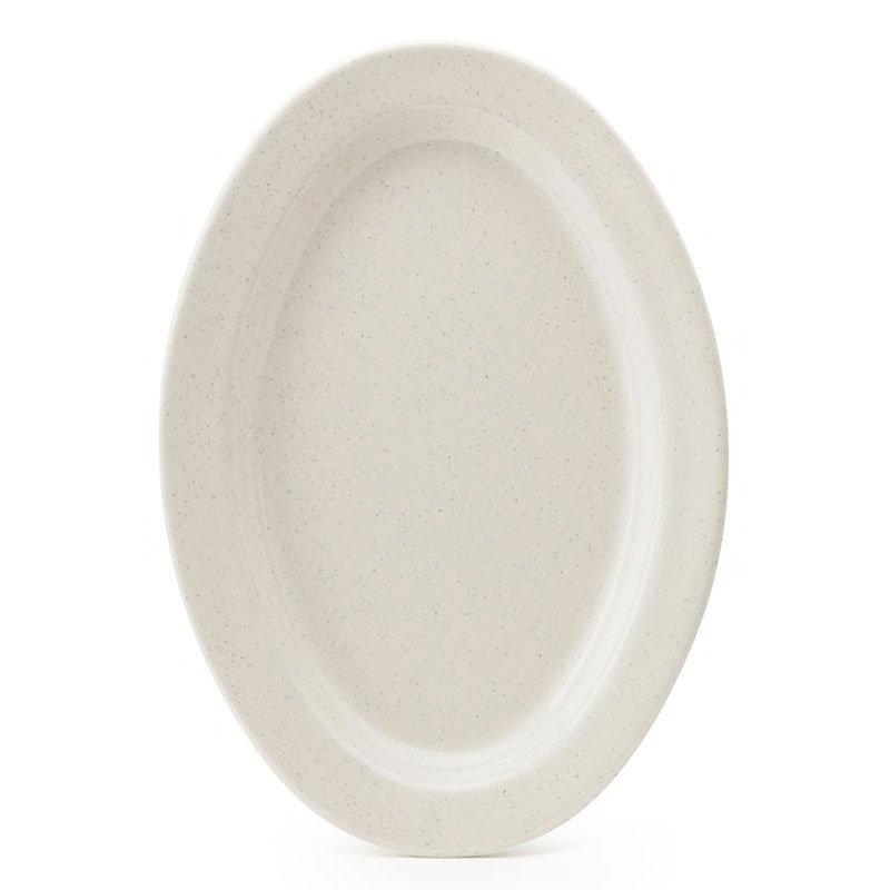 "GET OP-215-IR 11-1/2""Oval Platter, 3/4""Deep, Melamine, Ironstone Speckled"