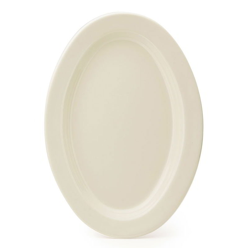 "GET OP-215-IV Platter, 11-1/2""Diameter, 3/4""Deep, Oval, Melamine, Ivory"