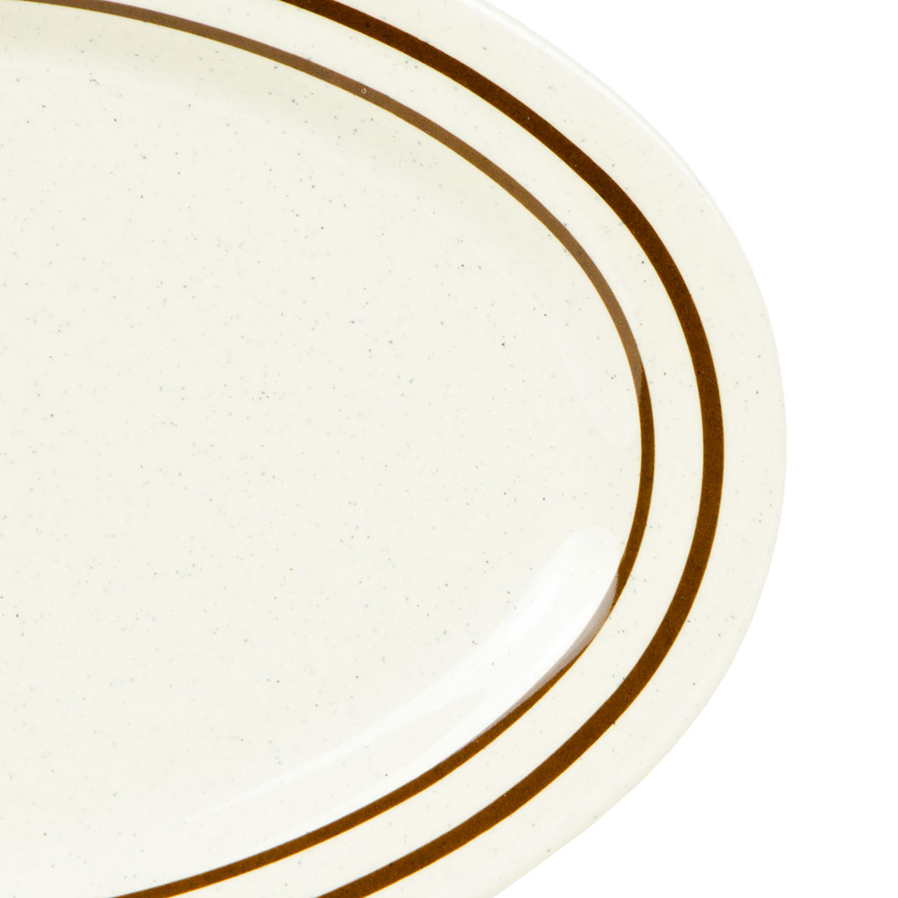 "GET OP-215-U Oval Serving Platter, 11.5"" x 8"", Melamine, White"