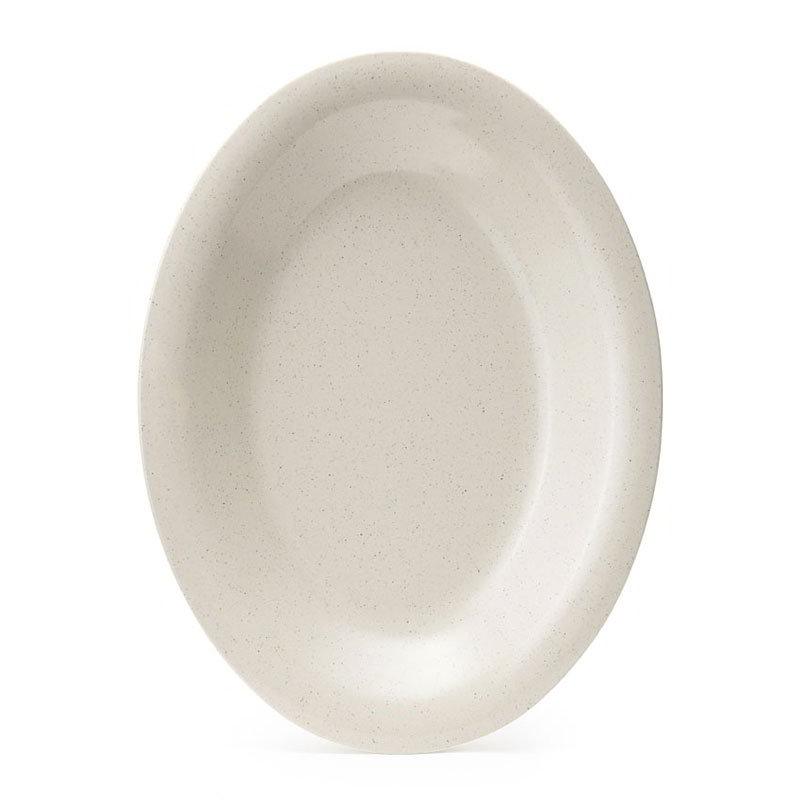 "GET OP-220-IR 12""Oval Platter, 1""Deep, Melamine, Ironstone Speckled"