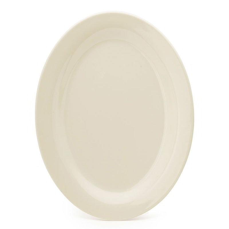 """GET OP-320-IV 11""""Oval Platter, Melamine, Ivory"""