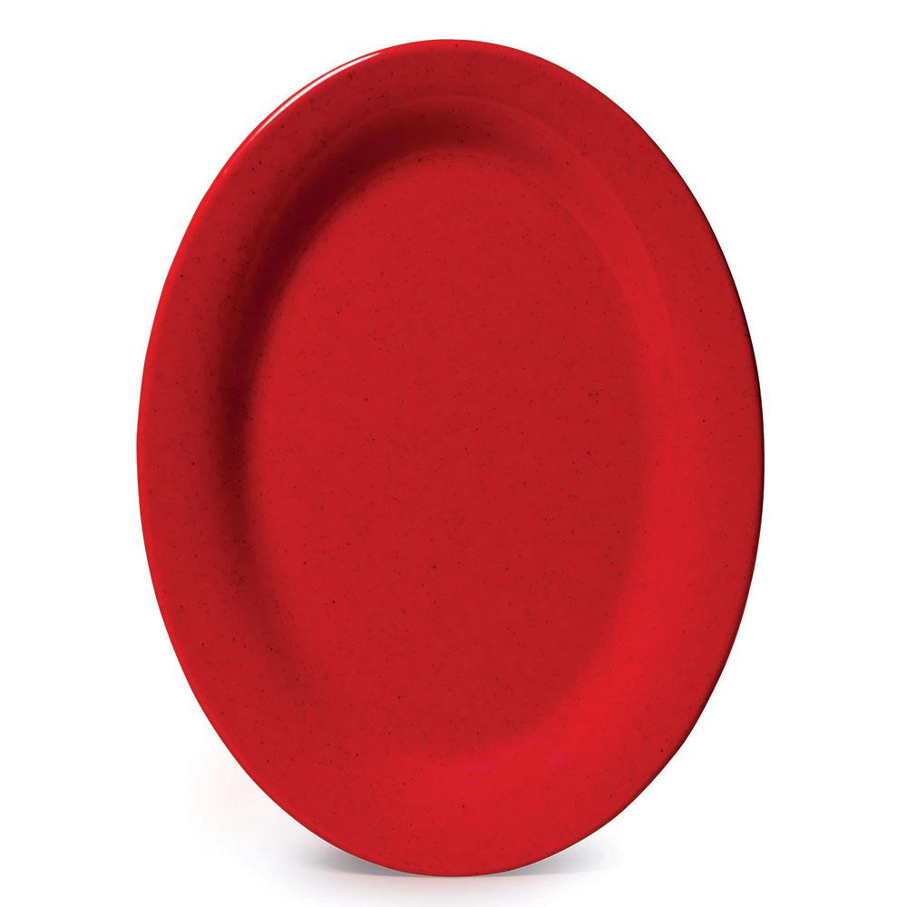 """GET OP-320-RSP 11""""Oval Platter, Melamine, Red Sensation"""