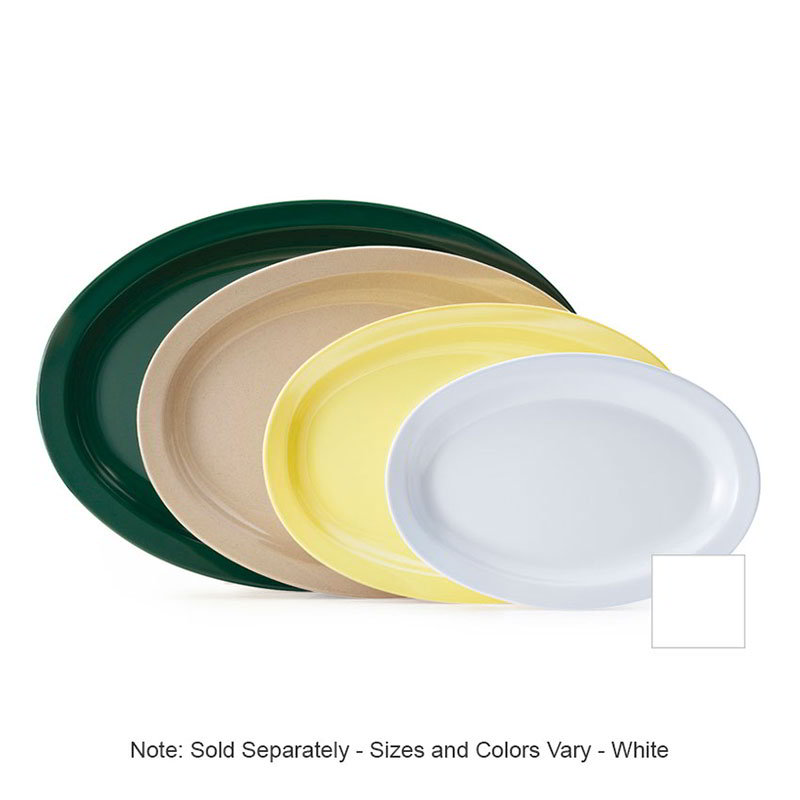 "GET OP-610-W 9-9-7/8""x 6-3/4""Oval Platter, White, Melamine, Supermel"