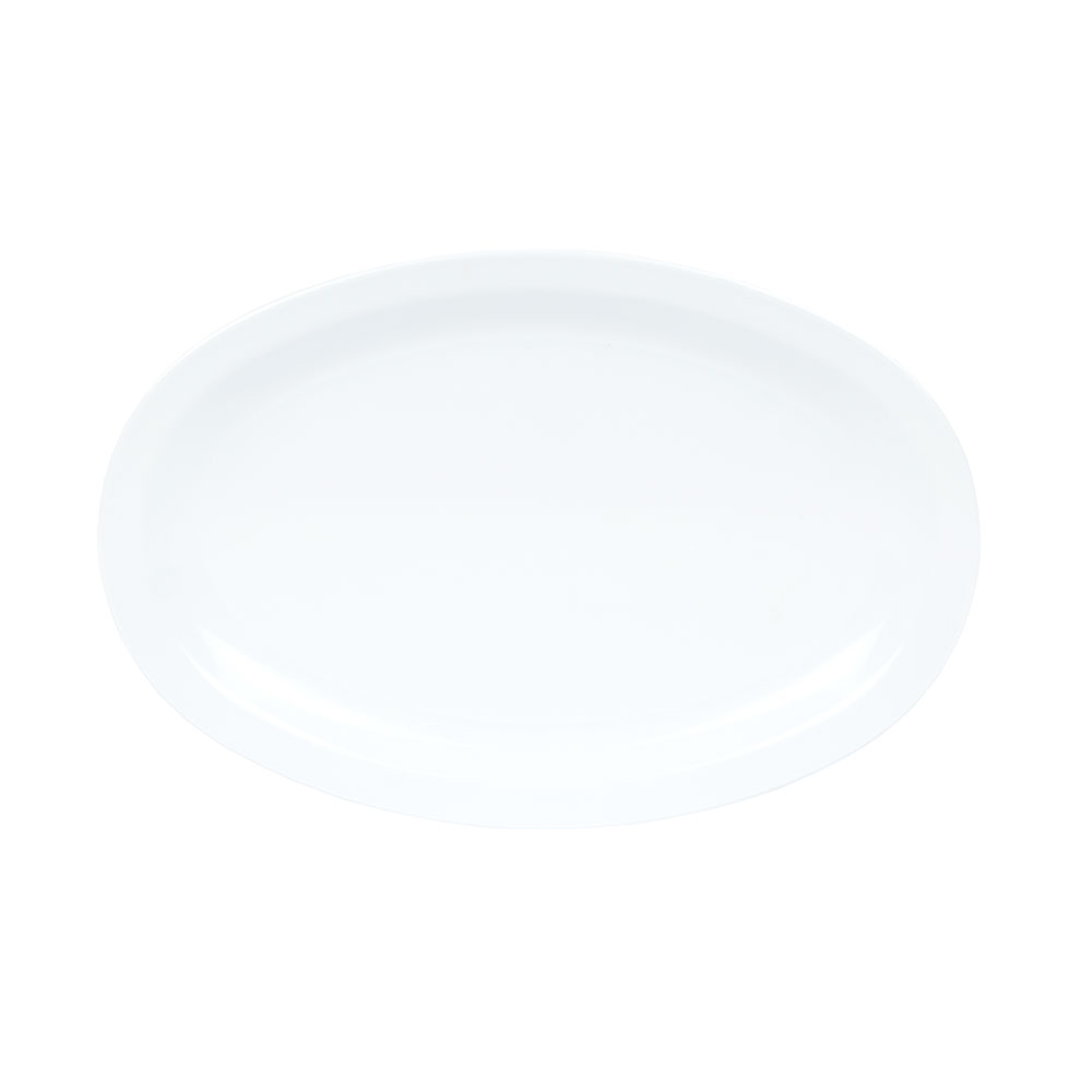 "GET OP-612-W 11-5/8""x 8-1/8""Oval Platter, White, Melamine, Supermel"