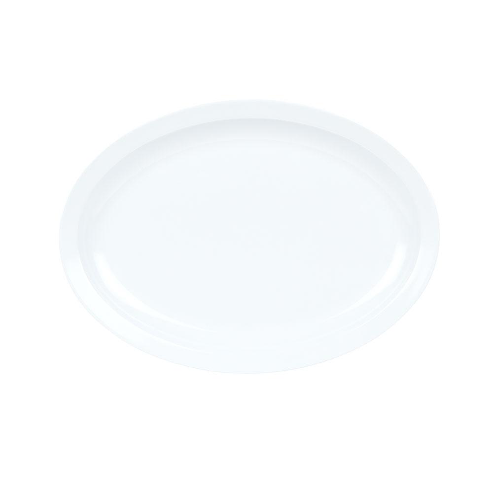 "GET OP-614-W Oval Serving Platter, 13.25"" x 9.75"", Melamine, White"