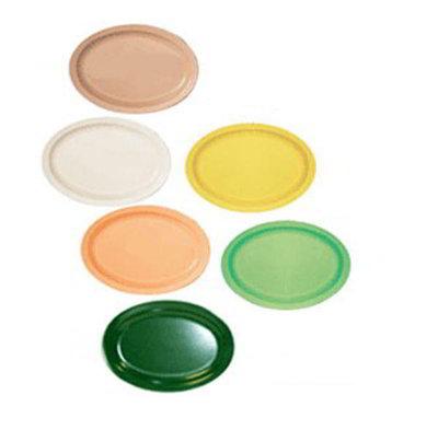 "GET OP-616-T 15-5/8""x 10-7/8""Oval Platter, Tan, Melamine, Supermel"
